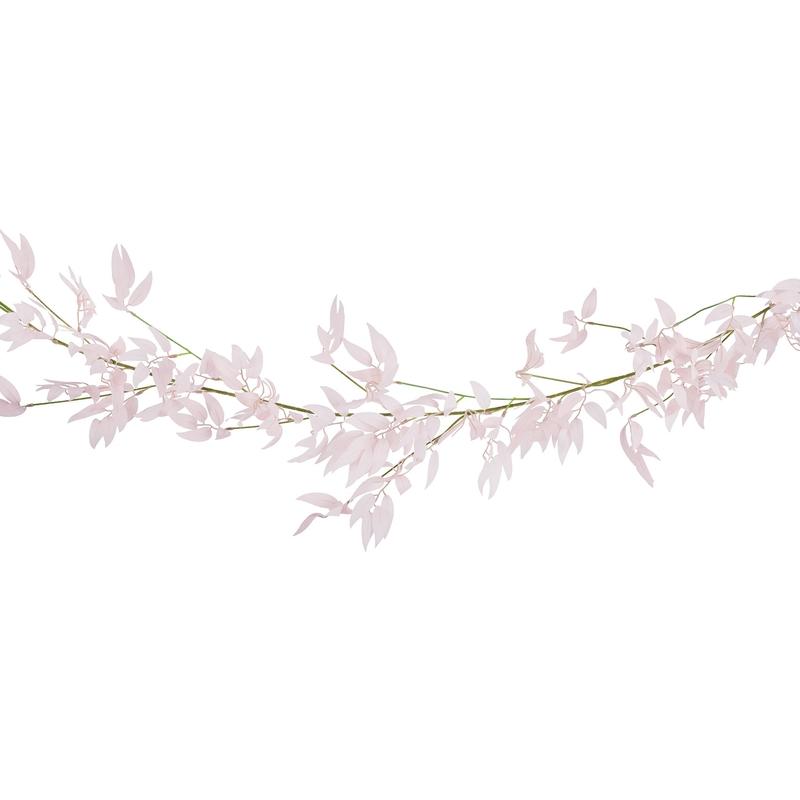 Blättergirlande rosa/grün 190cm
