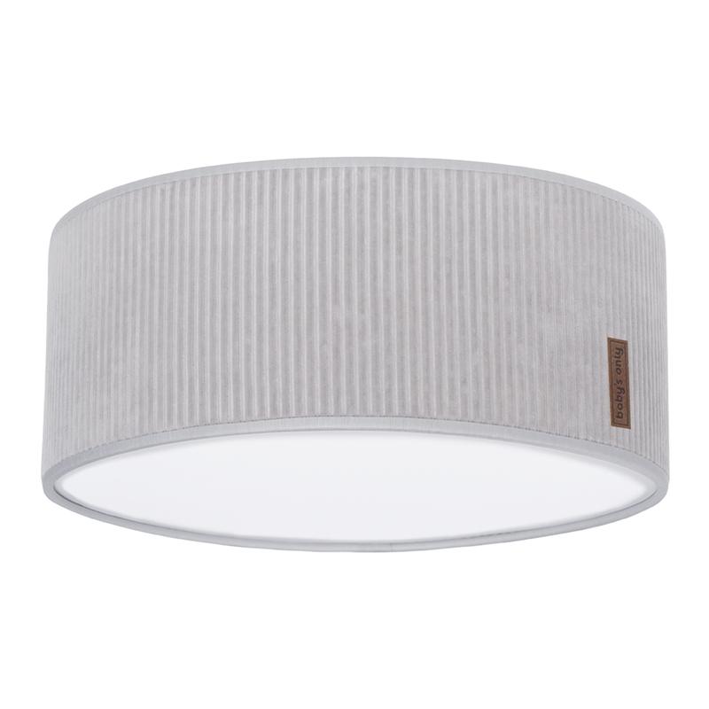 Deckenlampe 'Sense' Samt grau 35cm