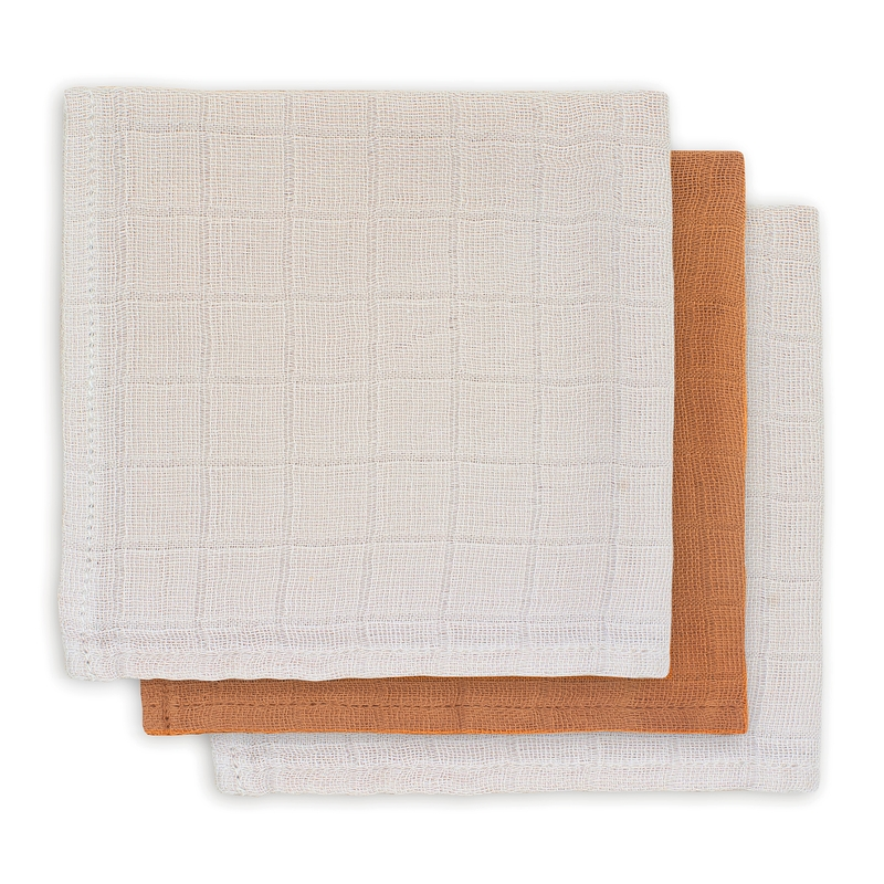 Spucktücher Bamboo beige/rost 3er Set