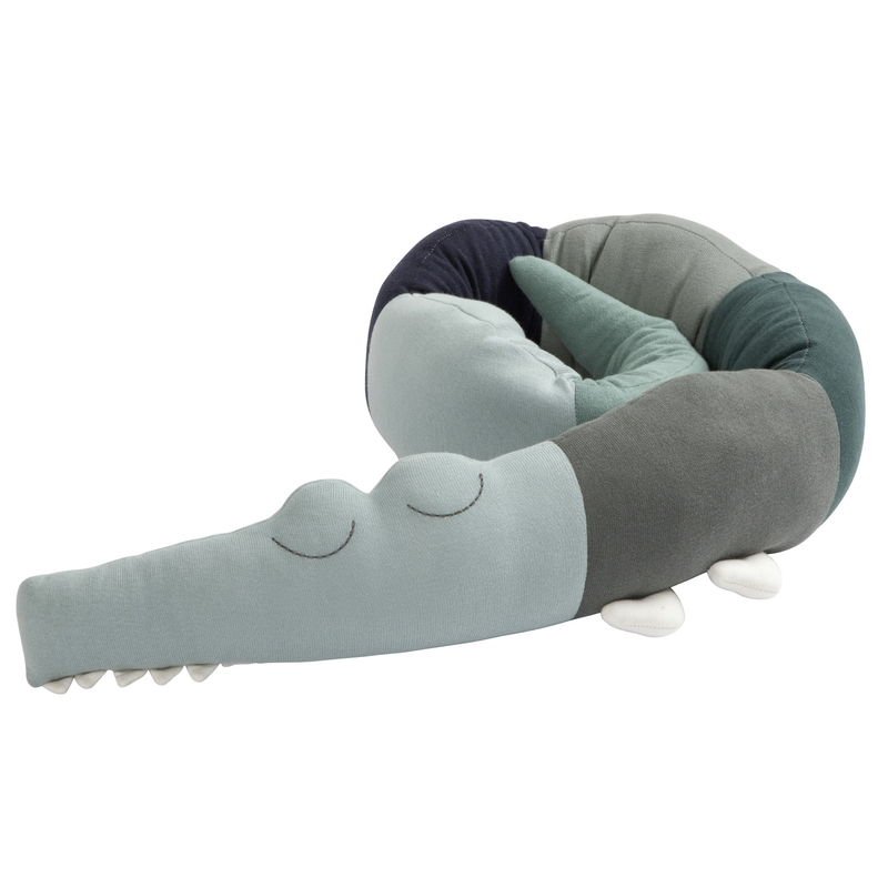Bettschlange 'Sleepy Croc' hazy blue 190cm