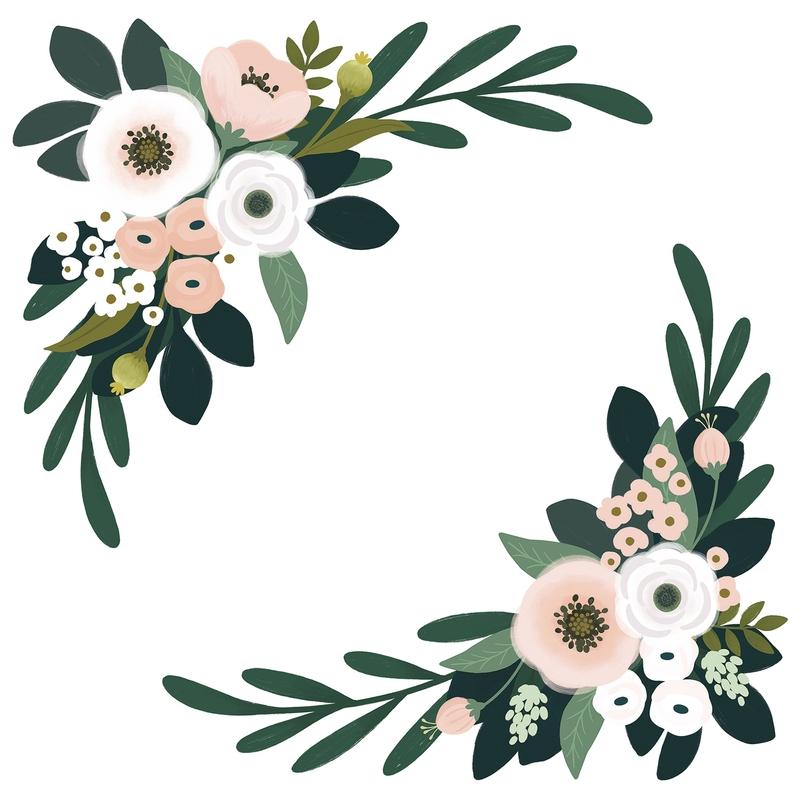 XL-Wandsticker 'Wonderland' Blumenranken