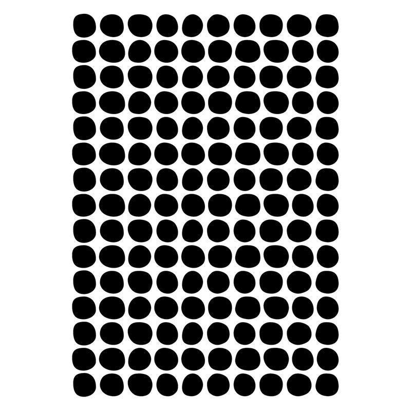 Wandsticker 'Basic Punkte' schwarz 150-tlg.
