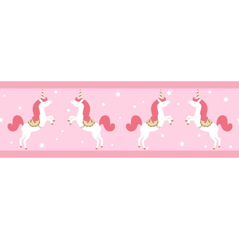 Bordüre 'Einhorn' rosa/pink