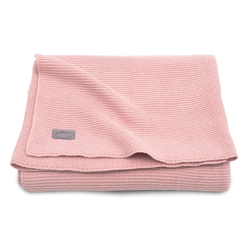 Strickdecke 'Basic Knit' Strick rosa