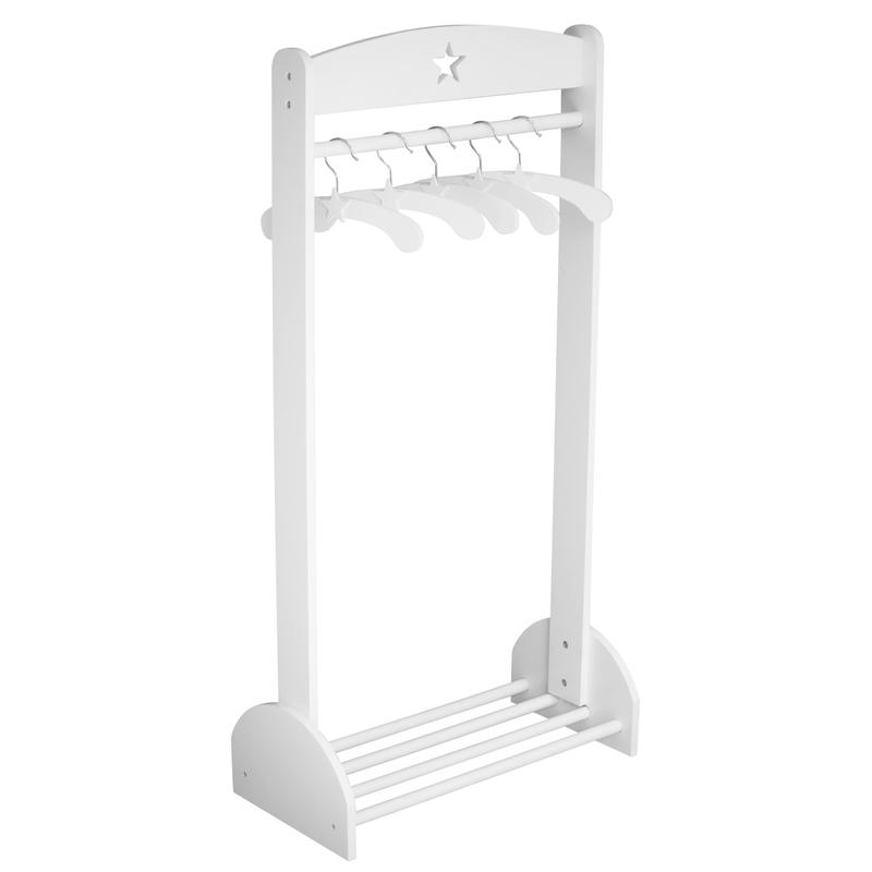 Garderobenständer aus Holz weiß 60x120cm