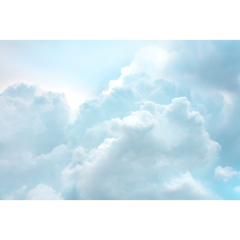 Fototapete 'Wolken' blau 405x270cm