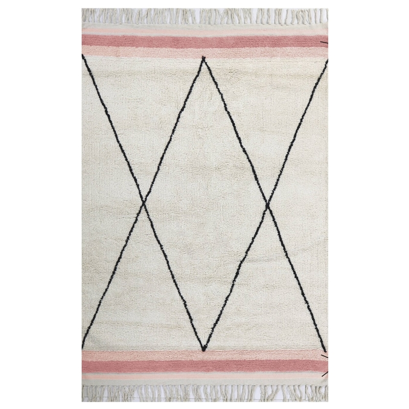 Teppich 'Etnic' creme/rosa 120x170cm