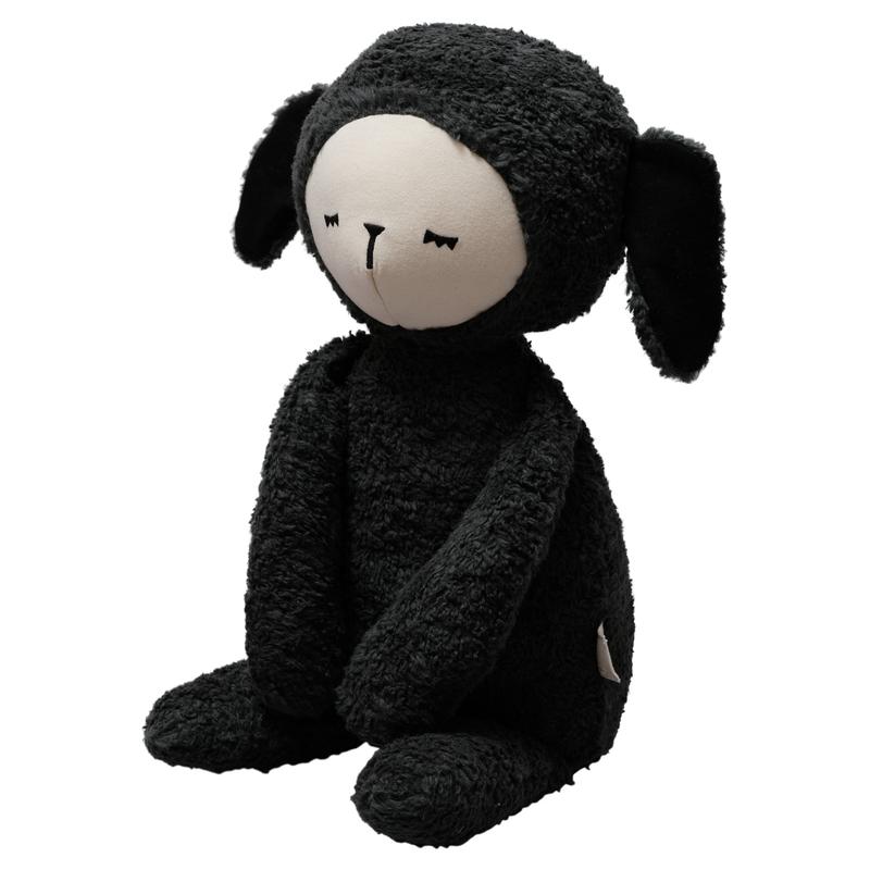 Bio Kuscheltier 'Schaf' Baumwolle schwarz 54cm