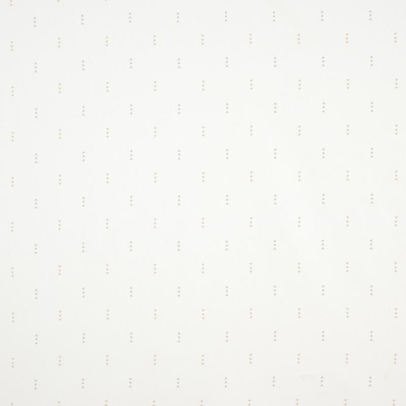 Stoff 'Happy Dreams' Dreiecke beige/grau