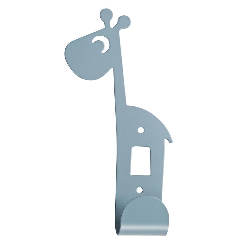 Kleiderhaken 'Raffi Giraffe' Metall blau