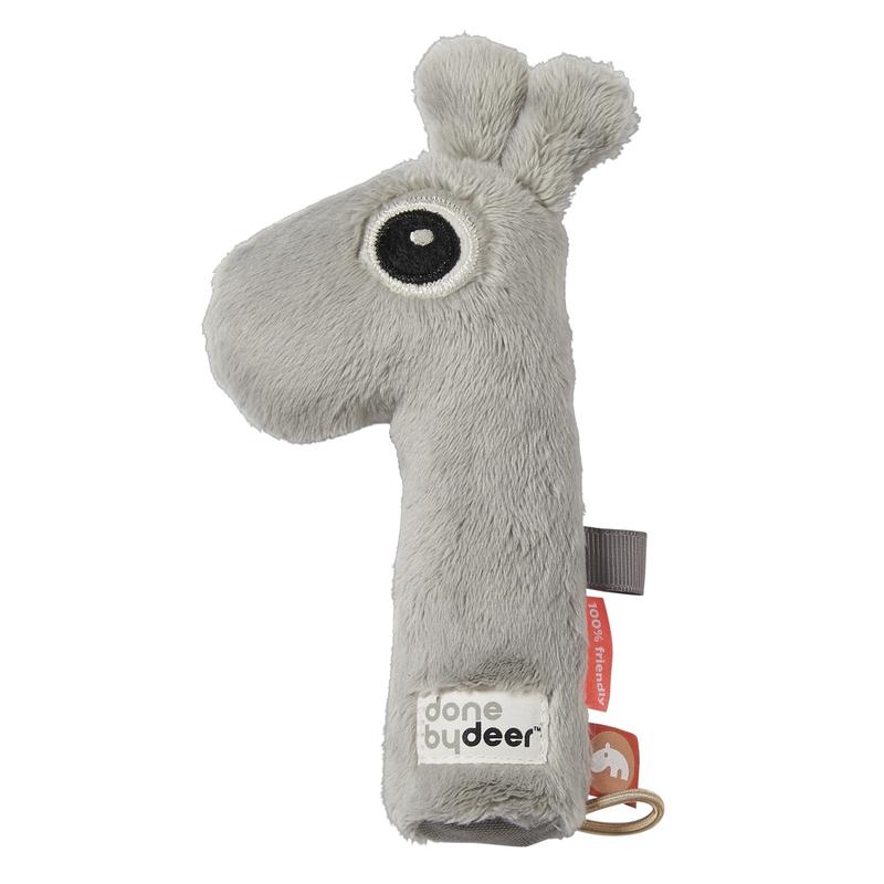 Babyrassel Giraffe 'Raffi' Plüsch grau