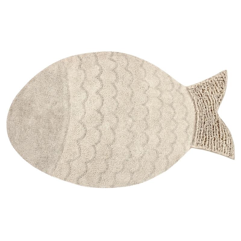 Teppich 'Fisch' natur ca. 110x180cm waschbar
