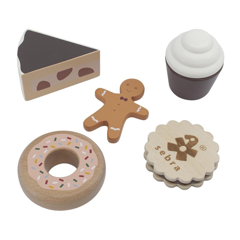 Kuchen & Kekse aus Holz 5-tlg. ab 3 Jahren