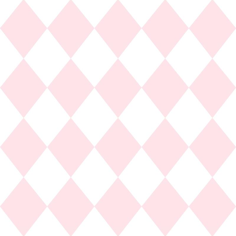 Kindertapete 'Rauten' rosa/weiß