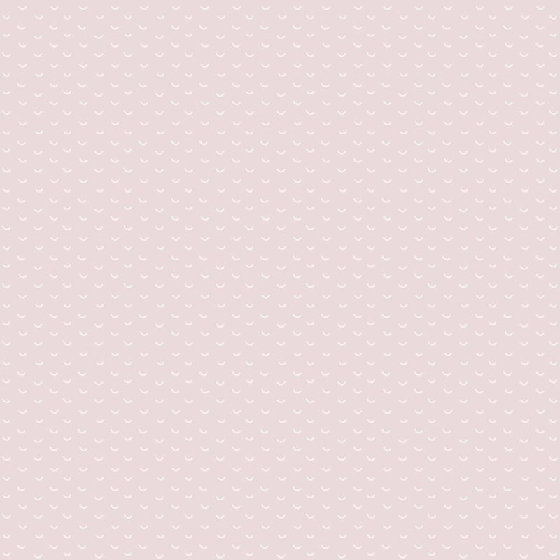 Tapete 'Kleinmuster' rosa/weiß