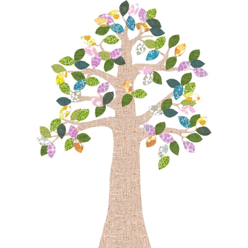 Tapetenbaum natur/bunt 230cm
