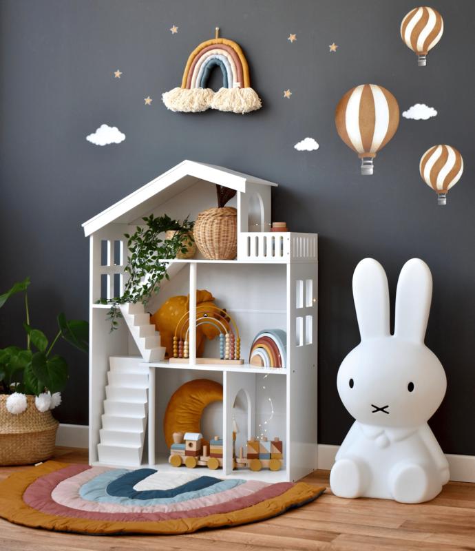 Spielecke mit Puppenhaus Regal & XL Miffy Lampe