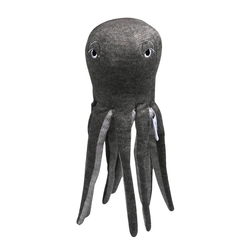 Kuscheltier 'Oktopus' grau meliert 30cm