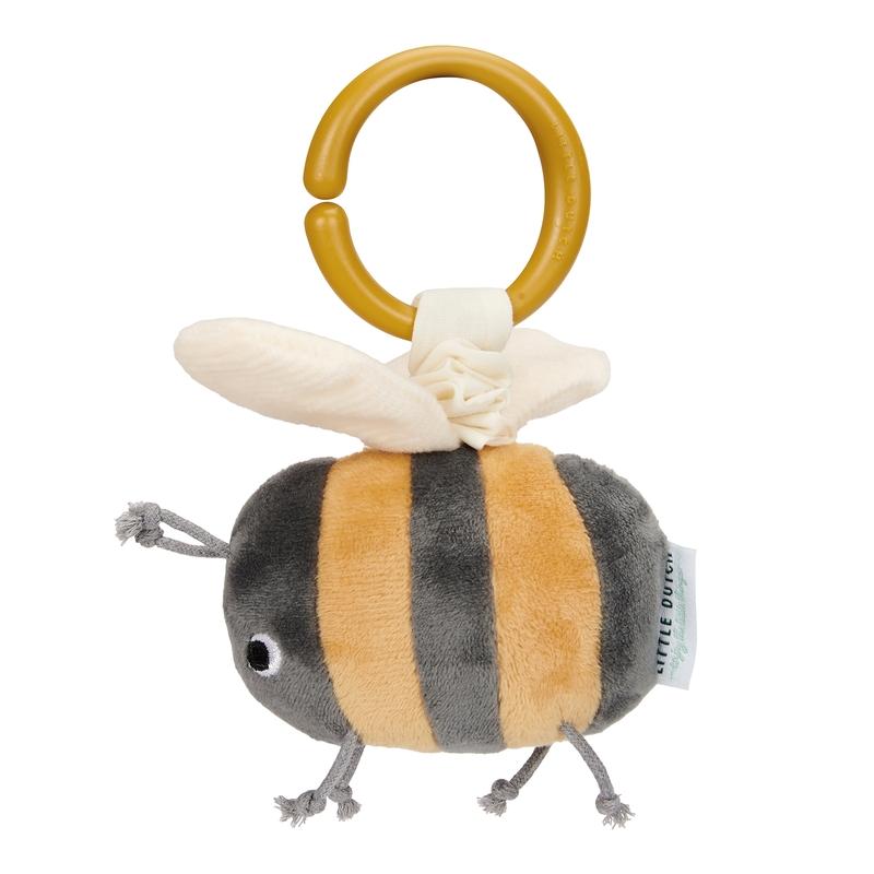 Activity-Spielzeug 'Biene' gelb/grau 14cm