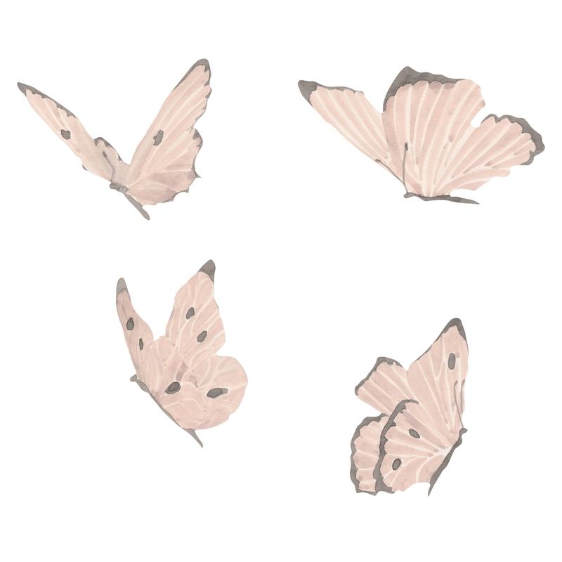 Stoff-Wandsticker 'Schmetterlinge' puder