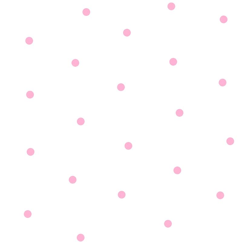 Stoff 'Punkte' rosa/weiß halbtransparent