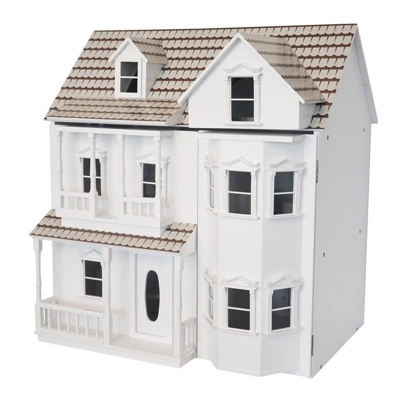 Puppenhaus aus Holz weiß 62cm ab 3 Jahren