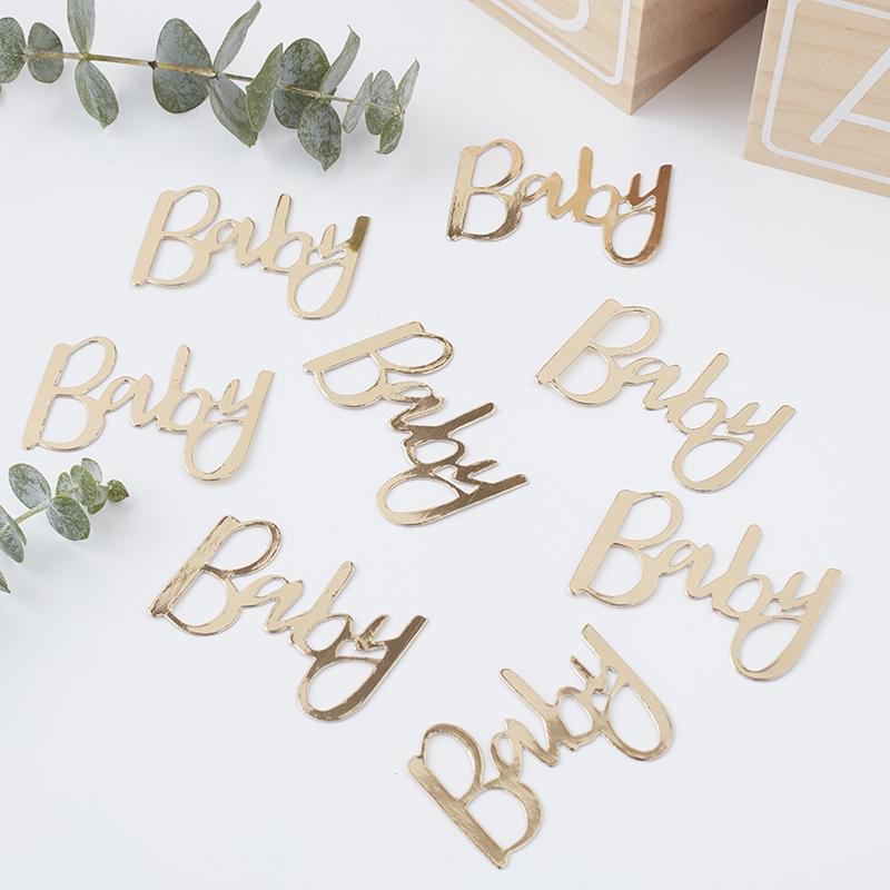 Tisch-Konfetti 'Oh Baby' gold 14g