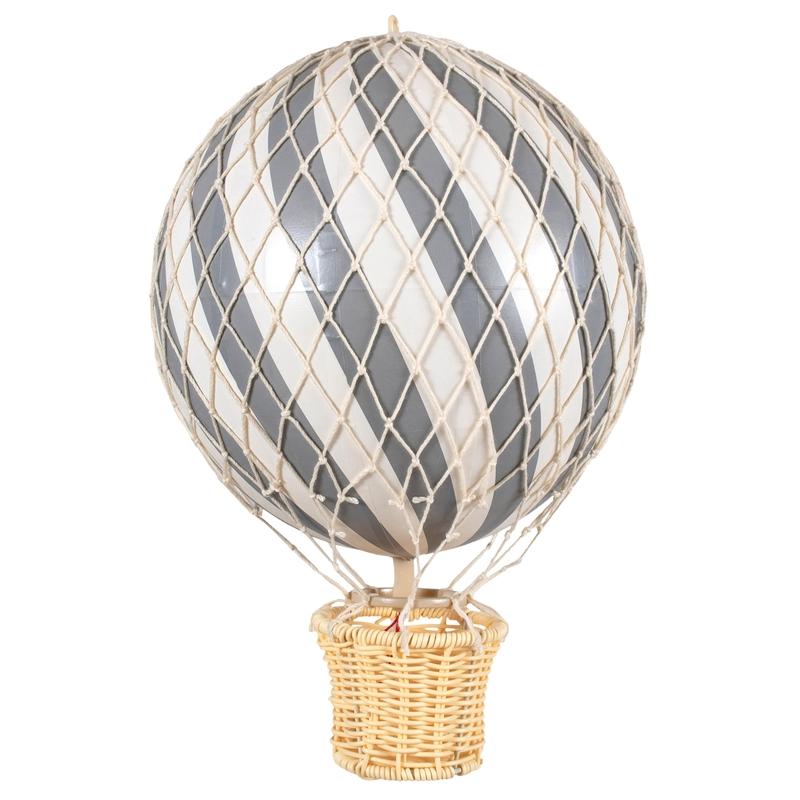Heißluftballon grau ca. 20cm handmade