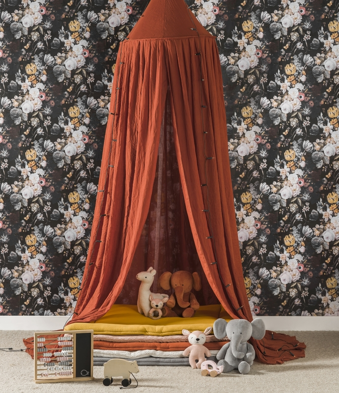 Kuschelecke mit Jollein Textilien in Terra/Senfgelb