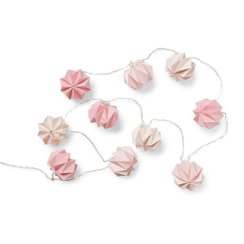 Lichterkette 'Origami' rosa ca. 250cm
