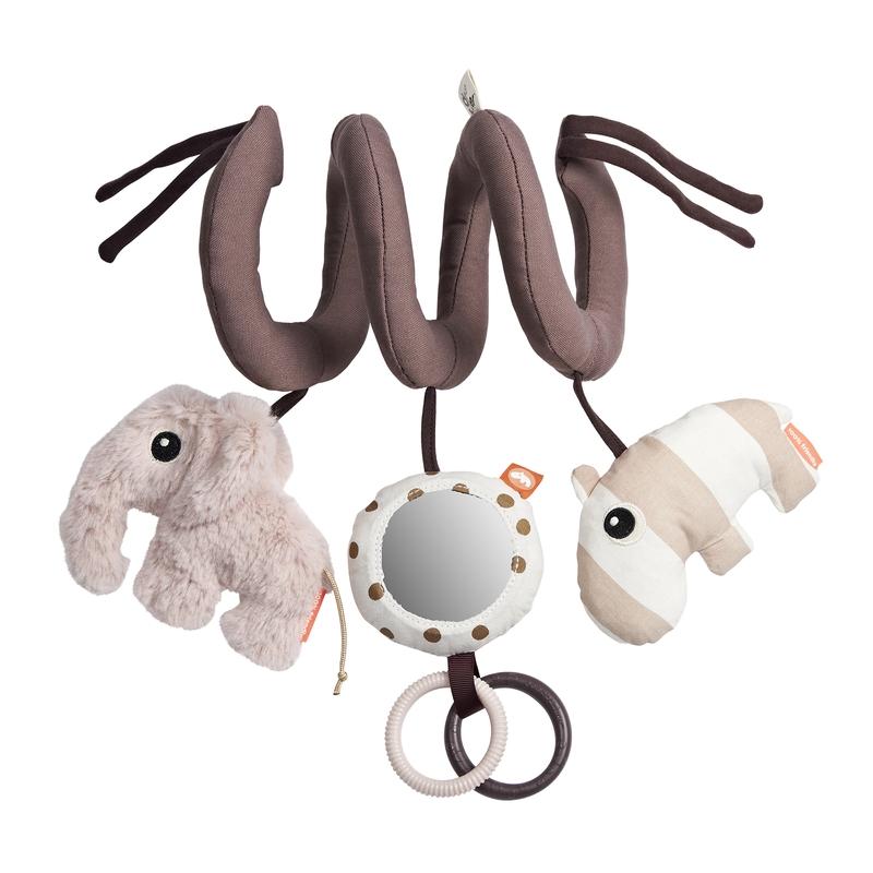 Spielkette 'Elefant & Nilpferd' altrosa