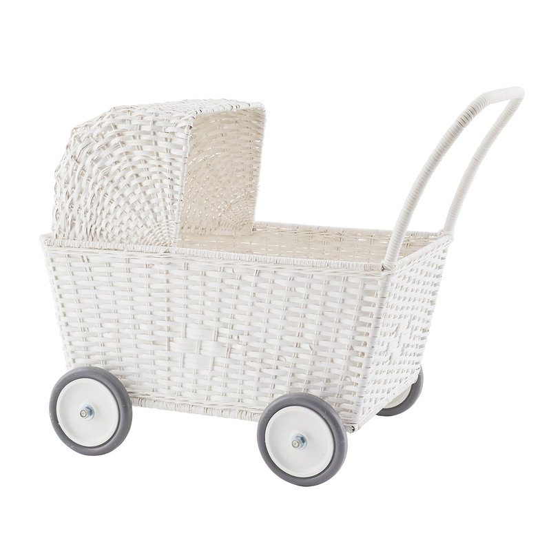 Korb Puppenwagen weiß ab 18 Monaten