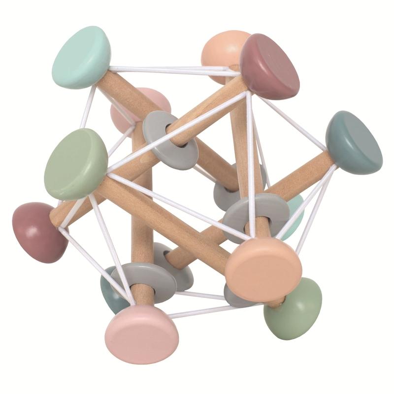 Activityball aus Holz pastell 16cm ab 1 Jahr