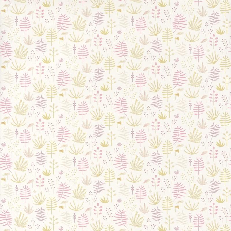 Tapete 'Happy Dreams' Dschungel rosa/rün