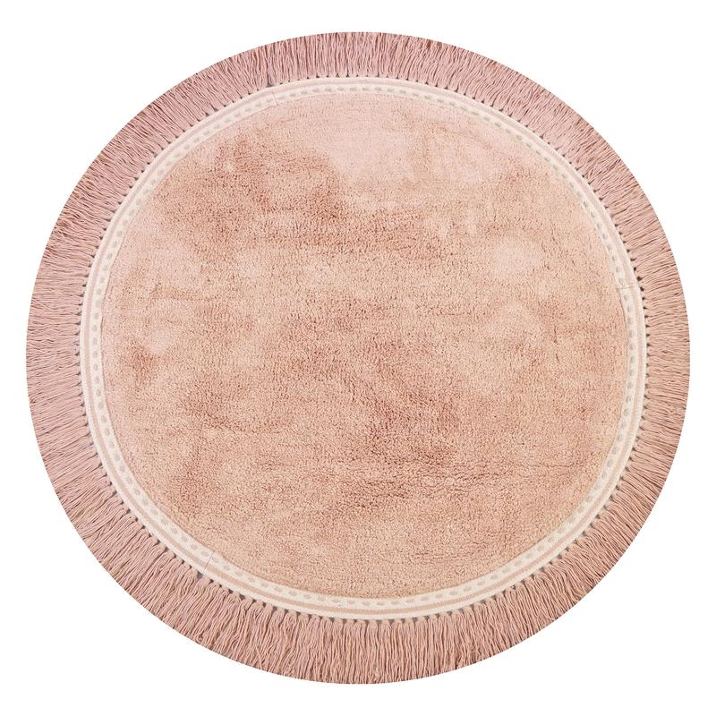 Teppich 'Anna' rund rosa ca. 110cm
