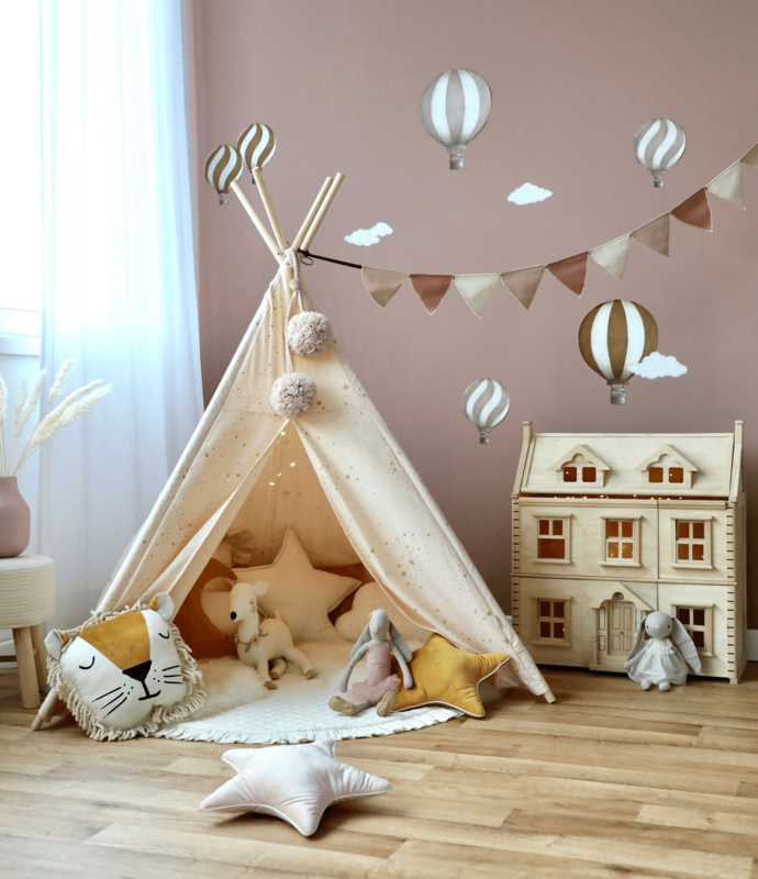 Spielecke mit Tipizelt & Holz-Puppenhaus