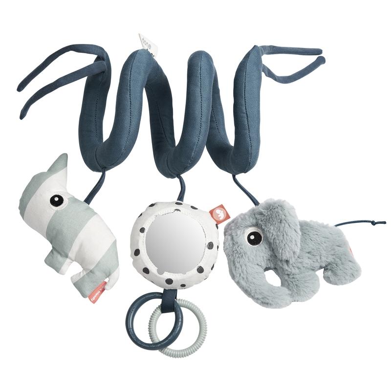 Spielkette 'Elefant & Nashorn' blau