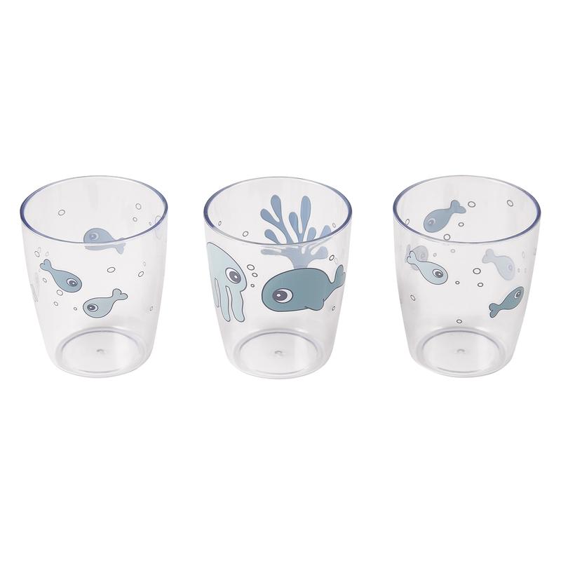 Trinkbecher 'Sea Friends' transparent/blau