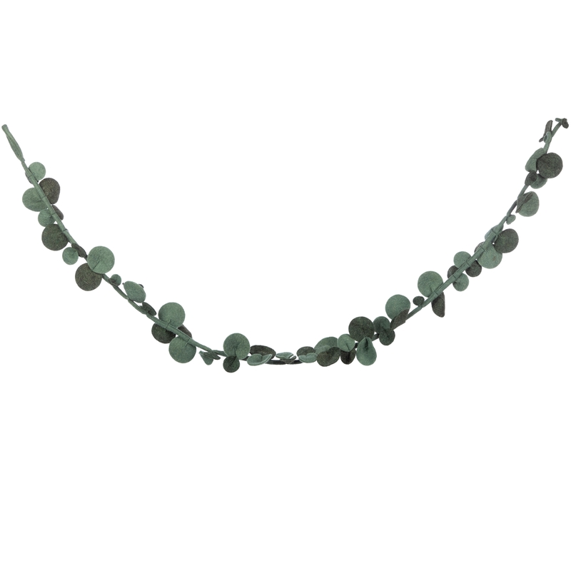 Blättergirlande 'Eukalyptus' Filz grün 180cm