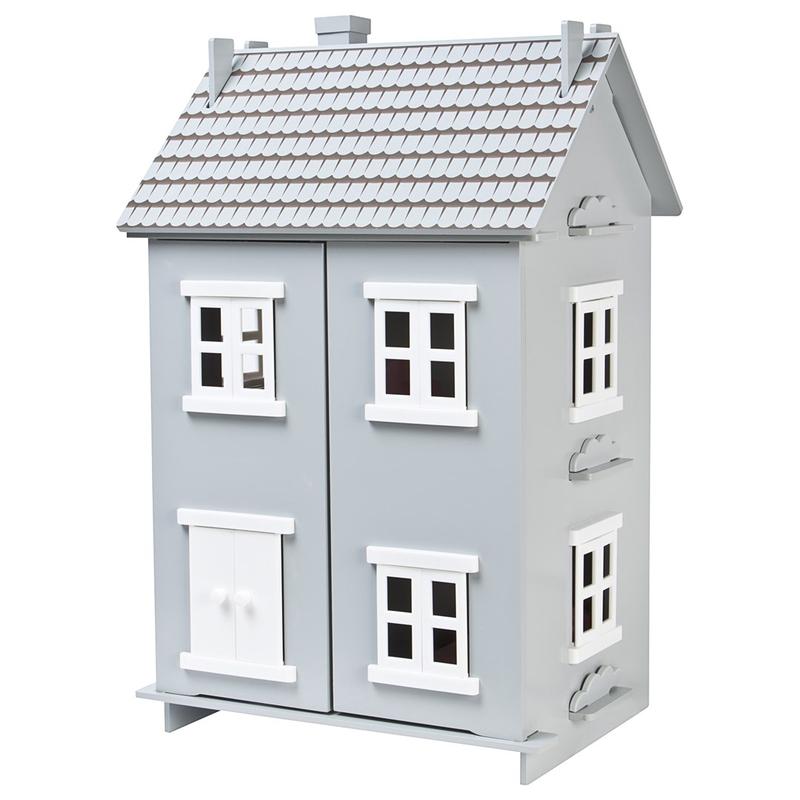 Puppenhaus Holz grau 40x62cm ab 3 Jahren