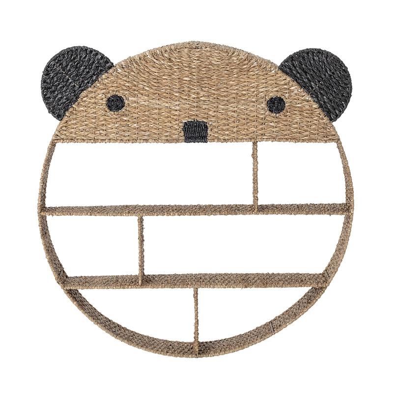 Wandregal 'Panda' Bankuan-Naturfaser 98cm