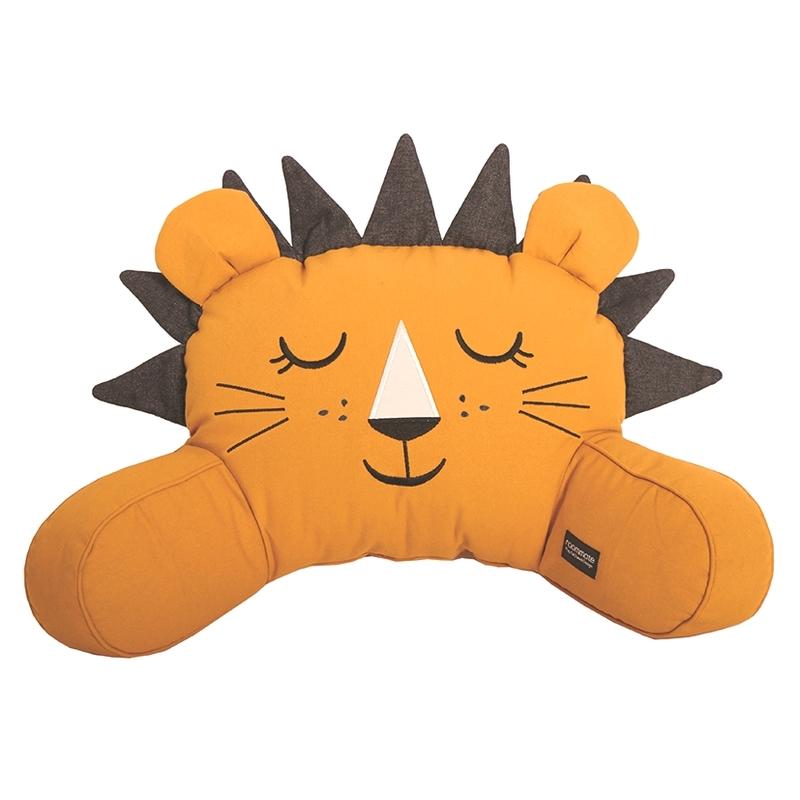 Rückenkissen 'Löwe' bestickt senfgelb ca. 50cm
