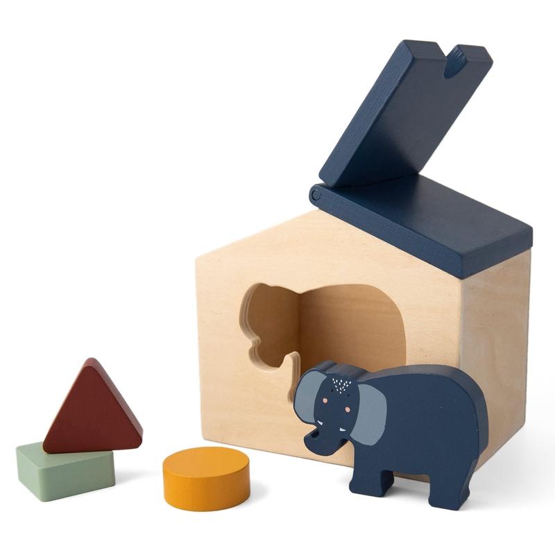 Steckspiel 'Elefant' Holz blau ab 2 Jahren