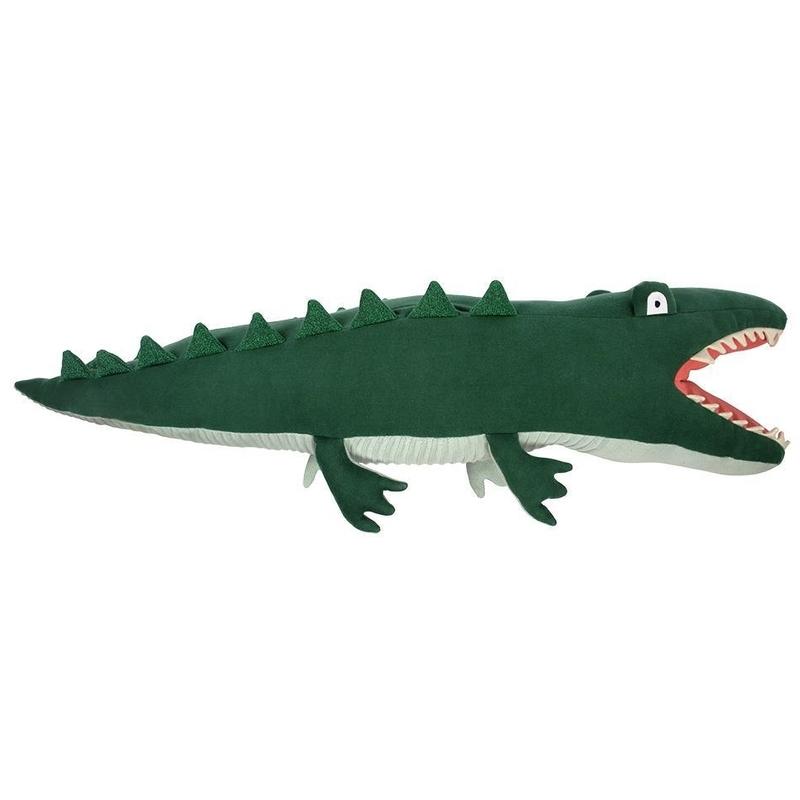 XL Kuscheltier 'Krokodil' Strick dunkelgrün 101cm