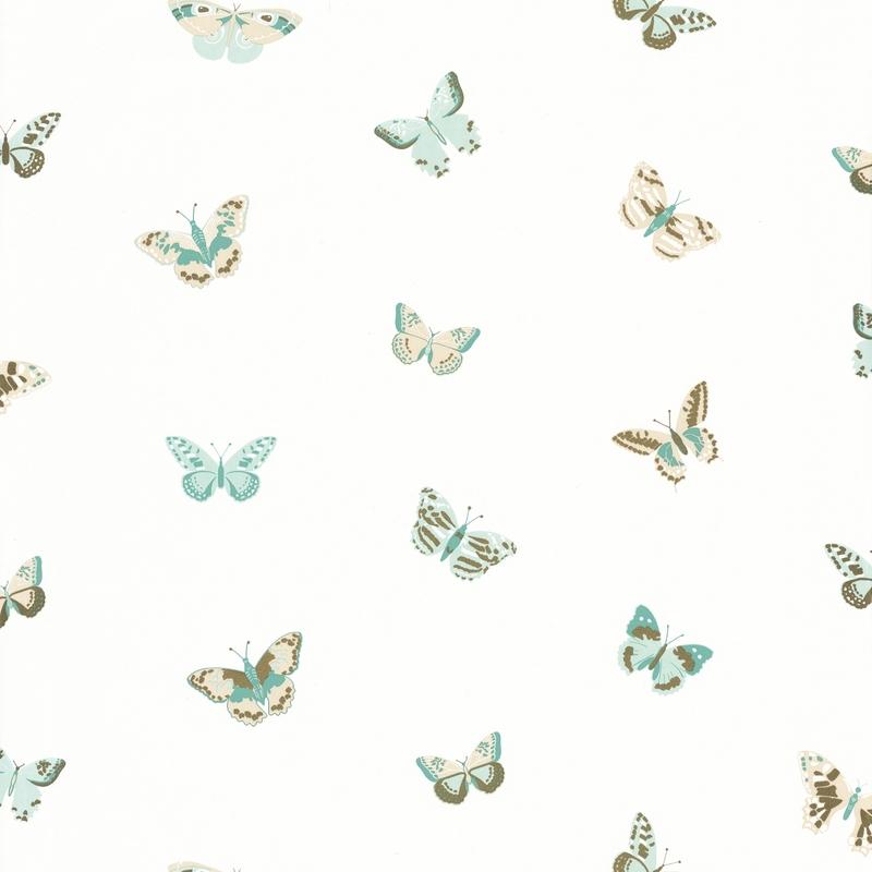 Tapete Schmetterlinge mint/gold 'Girl Power'