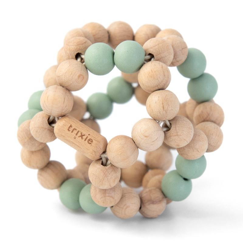 Activityball aus Holz natur/mint ab 1 Jahr