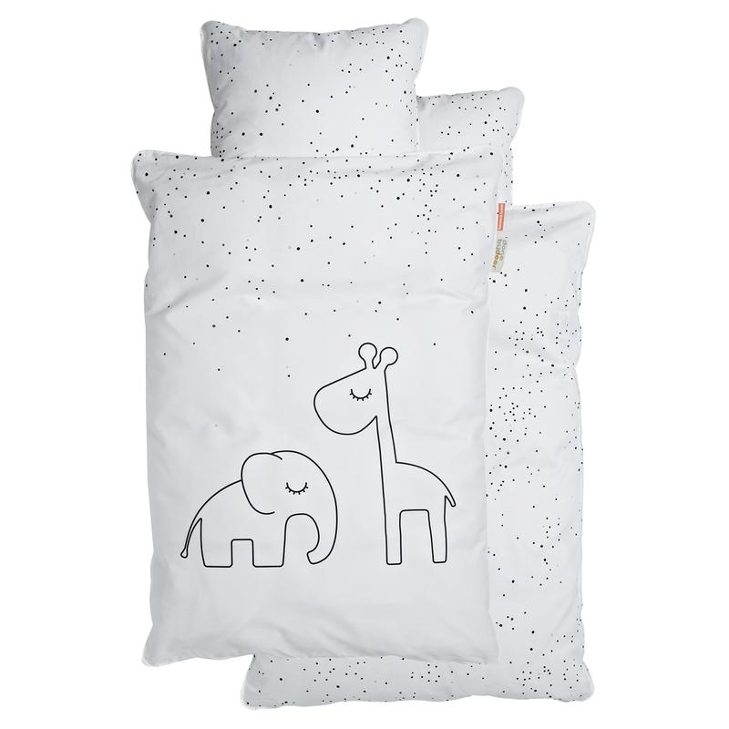 Bettwäsche 'Dreamy Dots' weiß 100x140cm