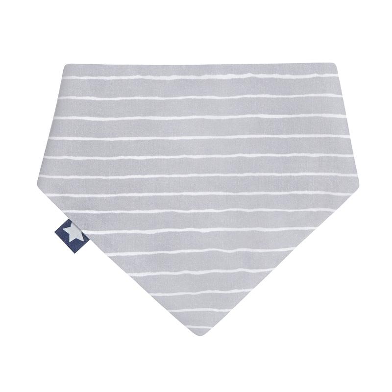 Halstuch/Dreieckstuch 'Streifen' grau/weiß