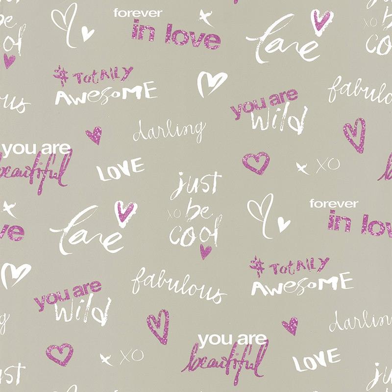 Tapete Darling taupe/pink 'Pretty Lili'