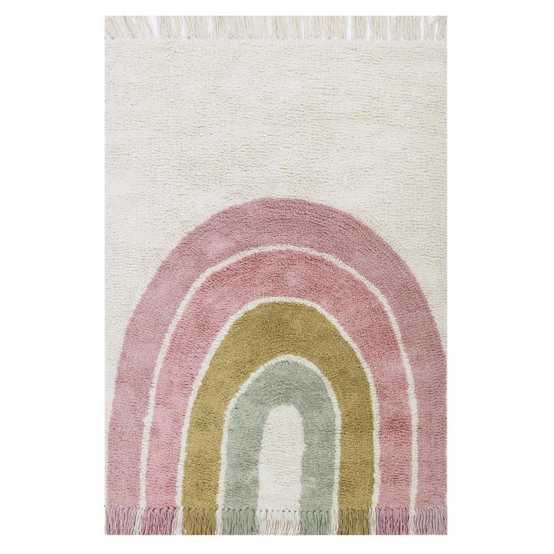 Teppich 'Regenbogen' rosa 90x130cm waschbar